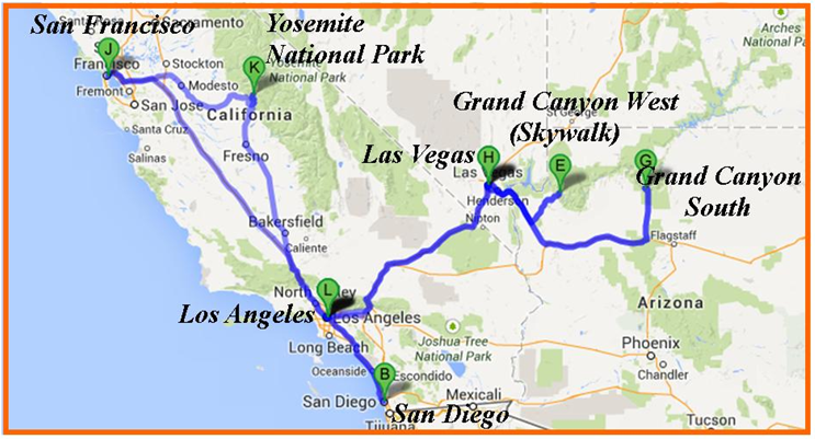 Atlas Las Vegas To San Francisco Map
